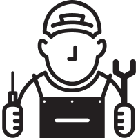 Mechanic with Cap vector