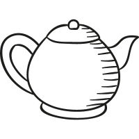Teapot Facing Right vector