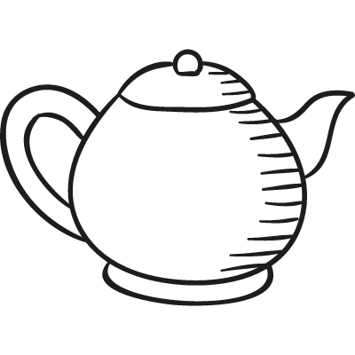Teapot Facing Right vector logo