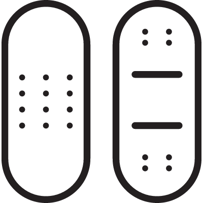 Two Plasters vector logo