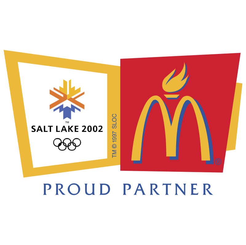 McDonalds Sponsor of Salt Lake 2002 vector