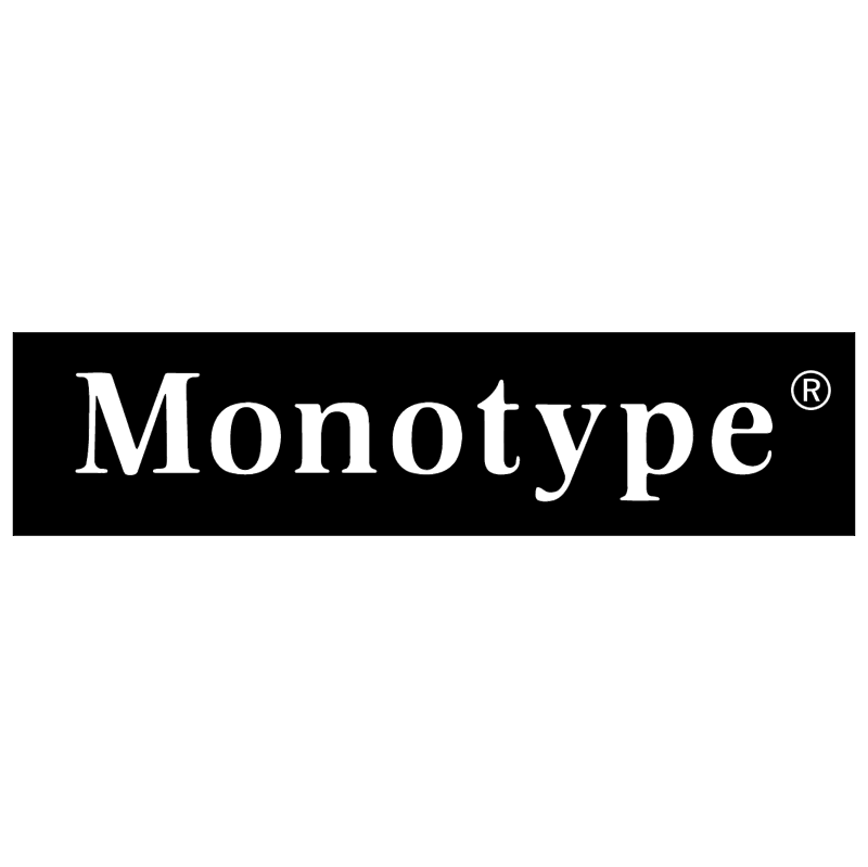 Monotype vector logo