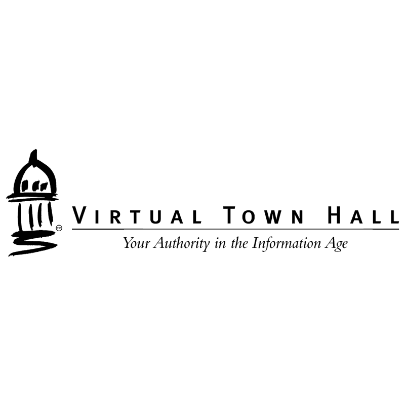 Virtual Town Hall vector