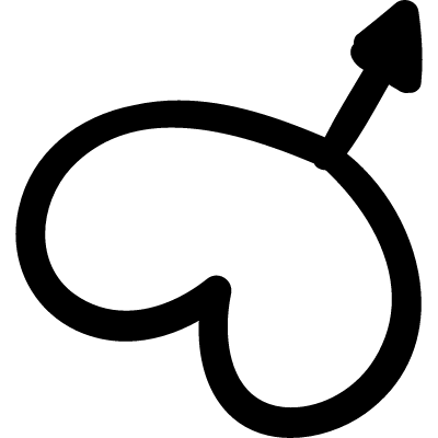 Male gender symbol with a heart logo