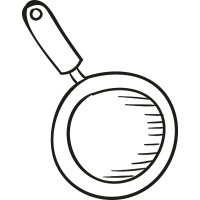 Frying Pan Cenit View vector