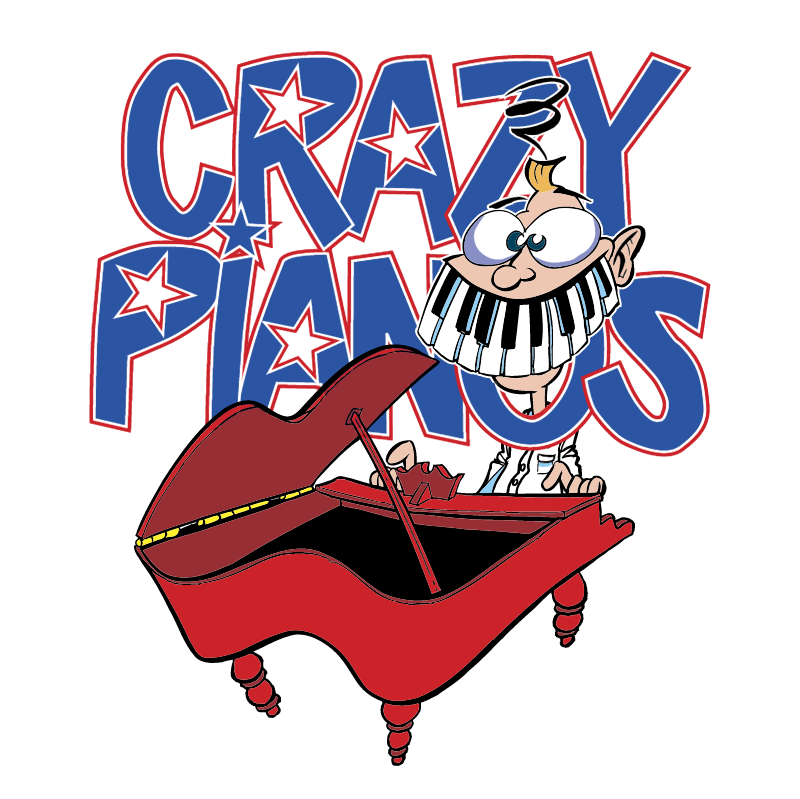Crazy Pianos vector logo