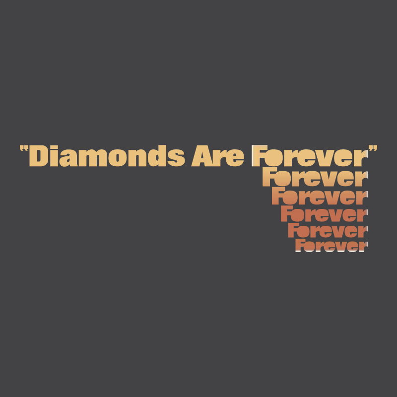 Diamonds Are Forever vector