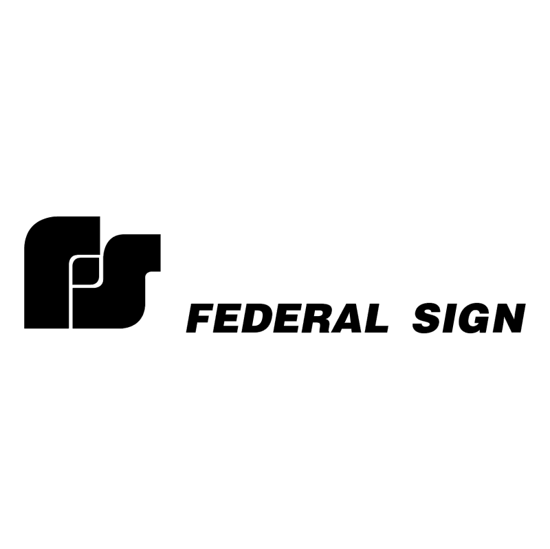Federal Sign vector