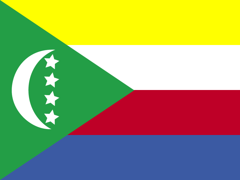 Flag of Comoros vector