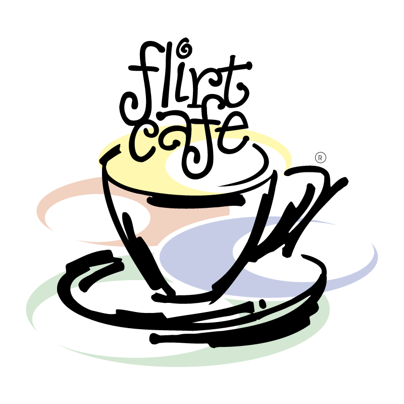 Flirt Cafe vector logo