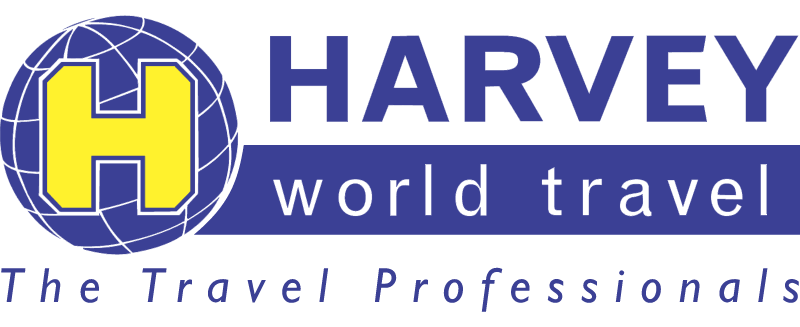 HARVEY WORLD TRAVEL vector