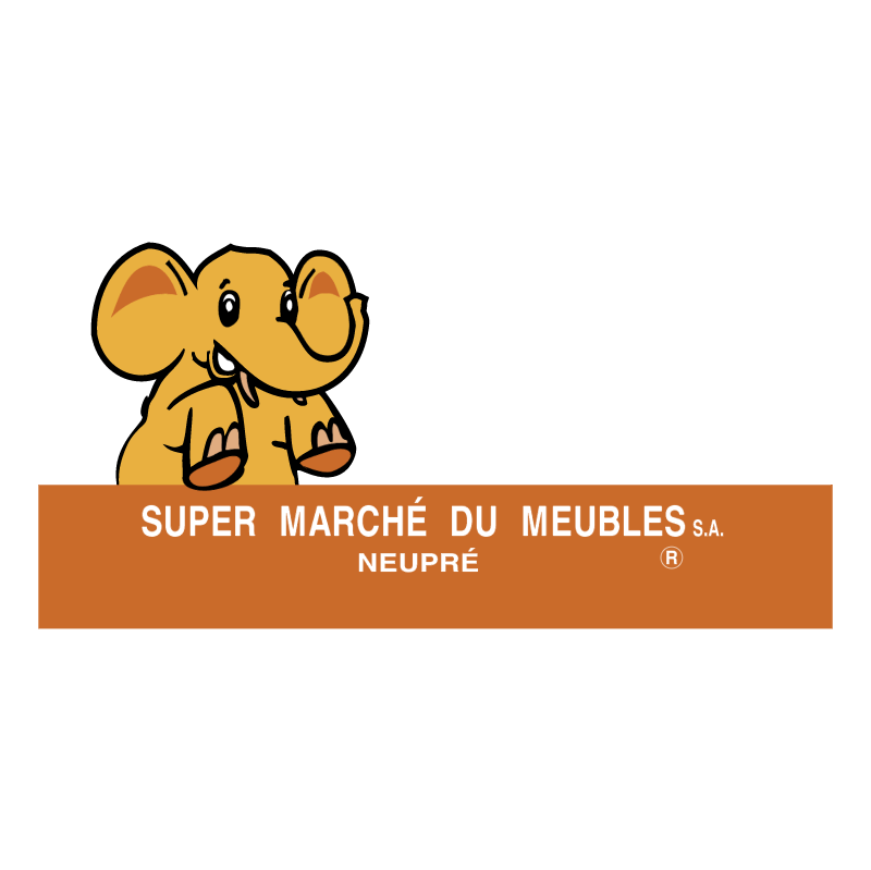 Super Marche Du Meubles vector