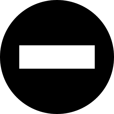 Minus sign in a circle vector logo