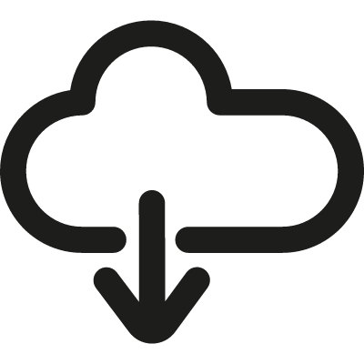 Download from Cloud vector logo