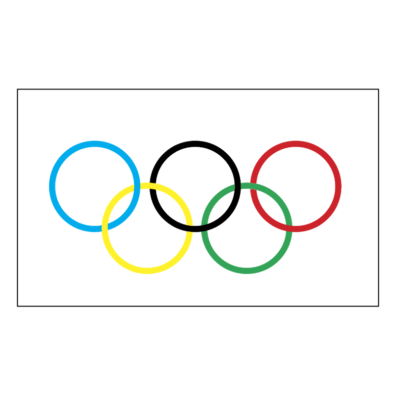 Olympic Flag vector