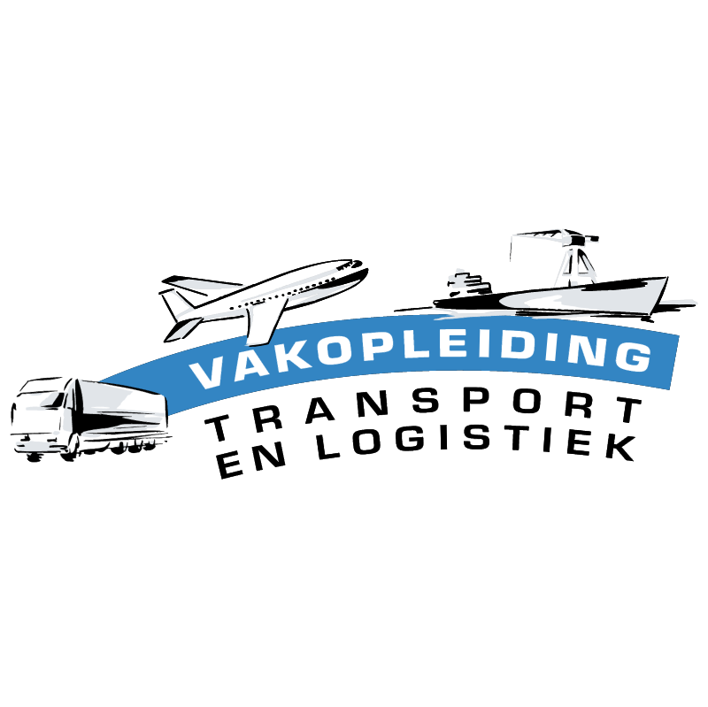Vakopleiding Transport en Logistiek vector logo