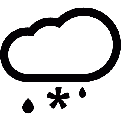 Cloud with sleet logo