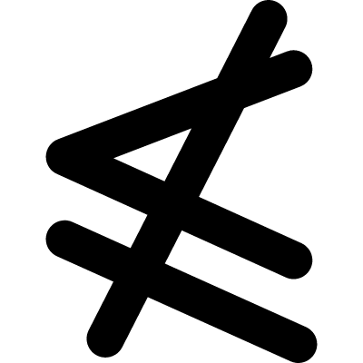 Neither less or equal mathematical symbol vector logo