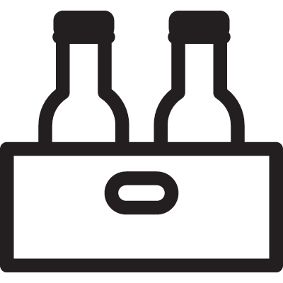 Two Rum Bottles in a Box vector logo