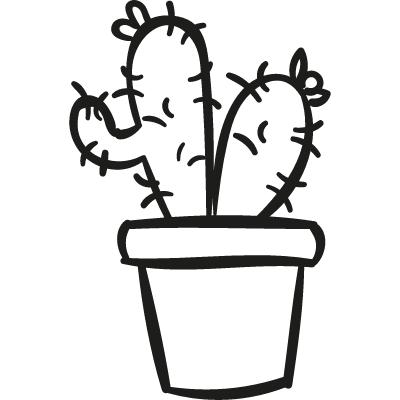 Two Cactus In a Pot logo