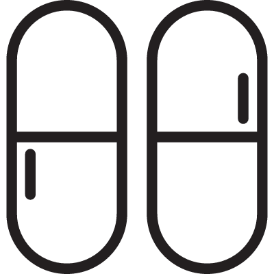 Two Capsules vector logo
