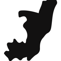 Congo black country map shape