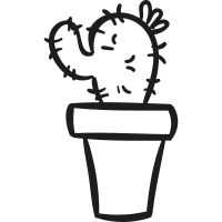 Gardening Cactus In a Pot vector