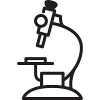 Hospital Microscope vector