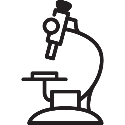 Hospital Microscope vector logo