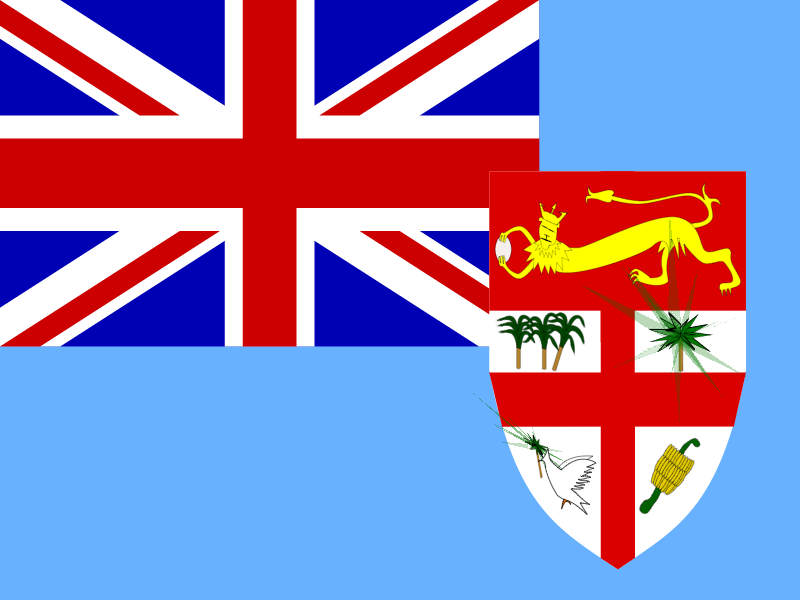 Flag of Fiji vector