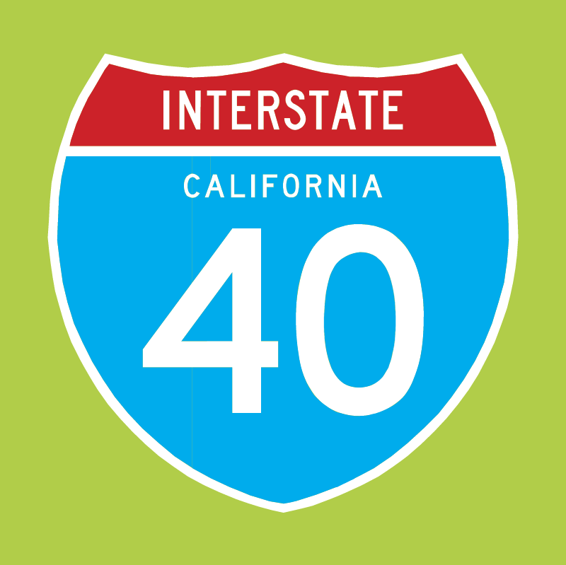 Interstate 40 vector