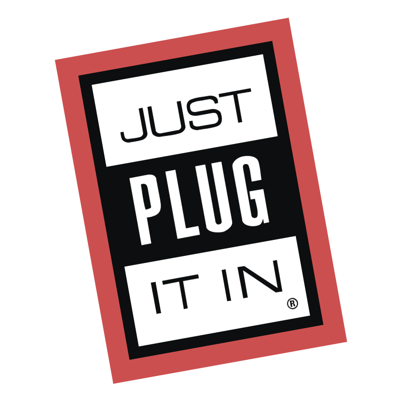 Just Plug It In vector logo