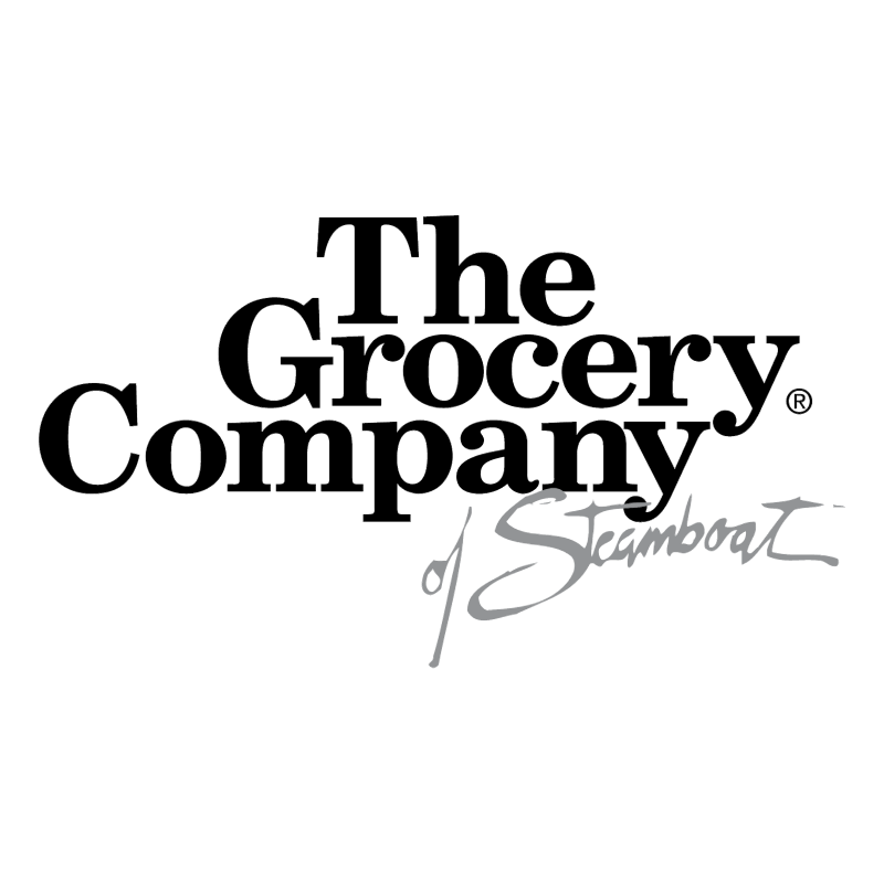 The Grocery Company of Steamboat vector logo
