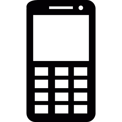 Mobile phone with buttons vector logo