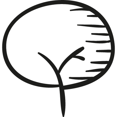 Drawing of a tree vector logo