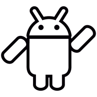Android with Arm Raised vector