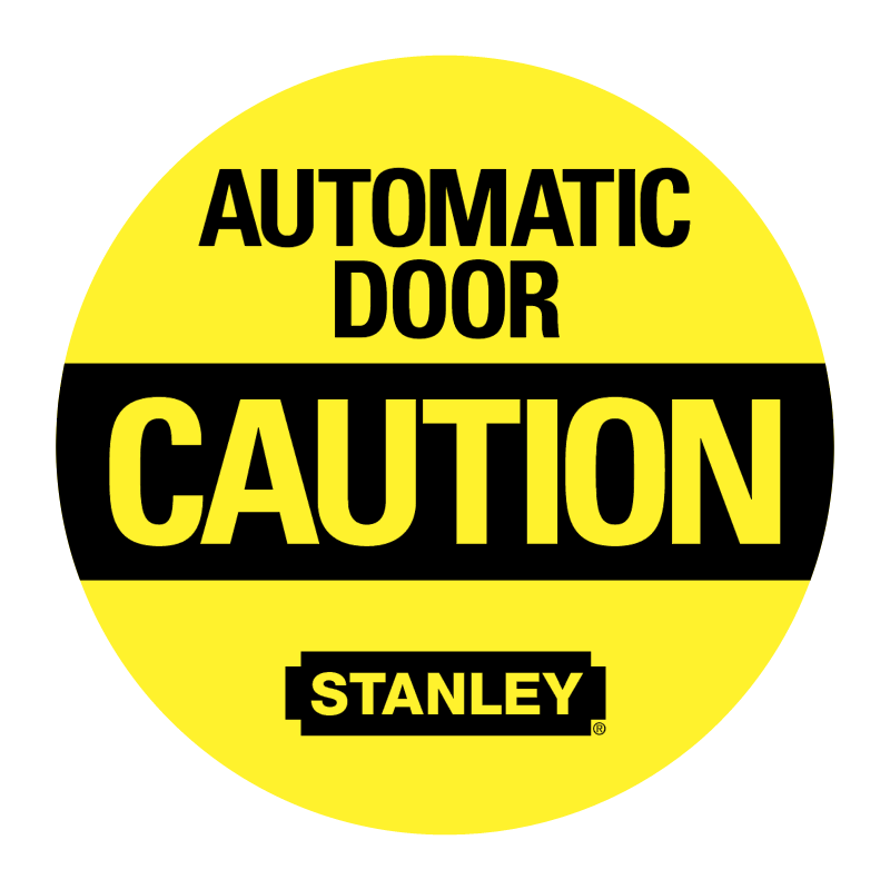 Automatic Door Caution vector