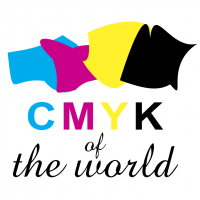 CMYK of the world vector