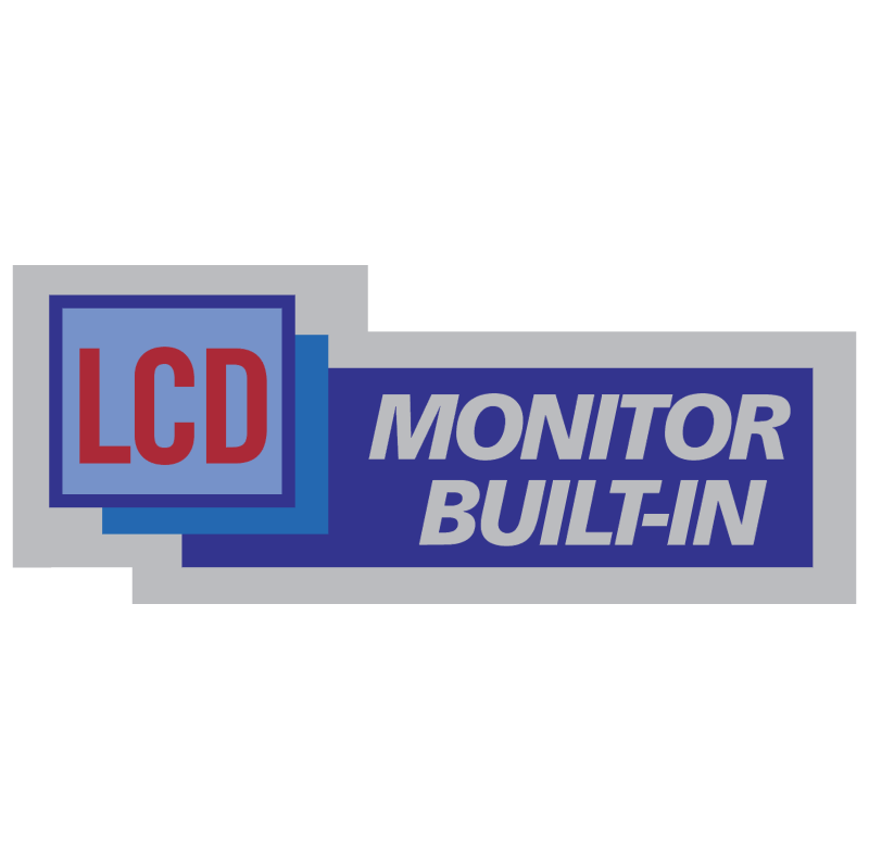 LCD Monitor Bilt In vector logo