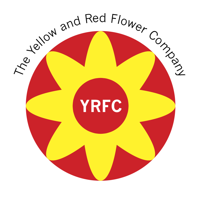 The Yellow and Red Flower Company vector