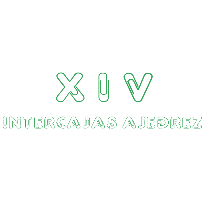 XIV Intercajas Ajedrez vector