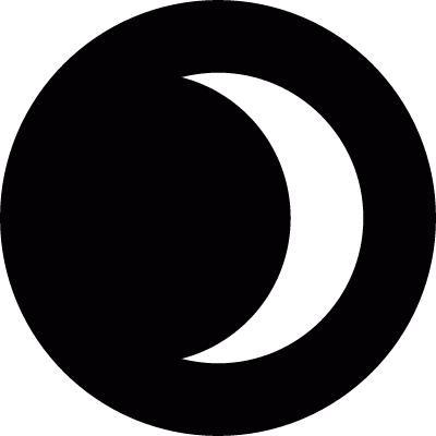 Crescent eclipse night vector logo