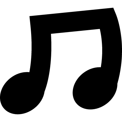 Connected sixteenth note vector logo