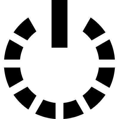 Power symbol with the circle of a broken line logo