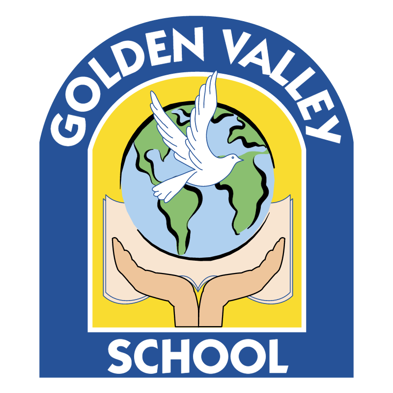Golden Valley School vector logo