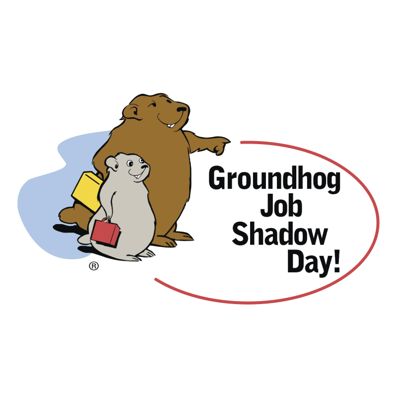 Groundhog Job Shadow Day! vector logo