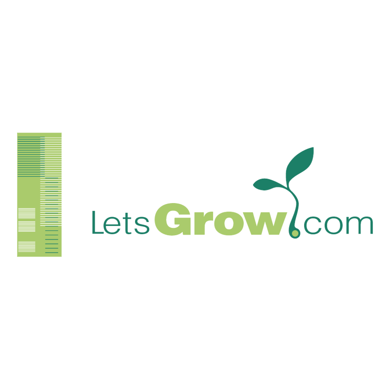 Lets grow com vector logo