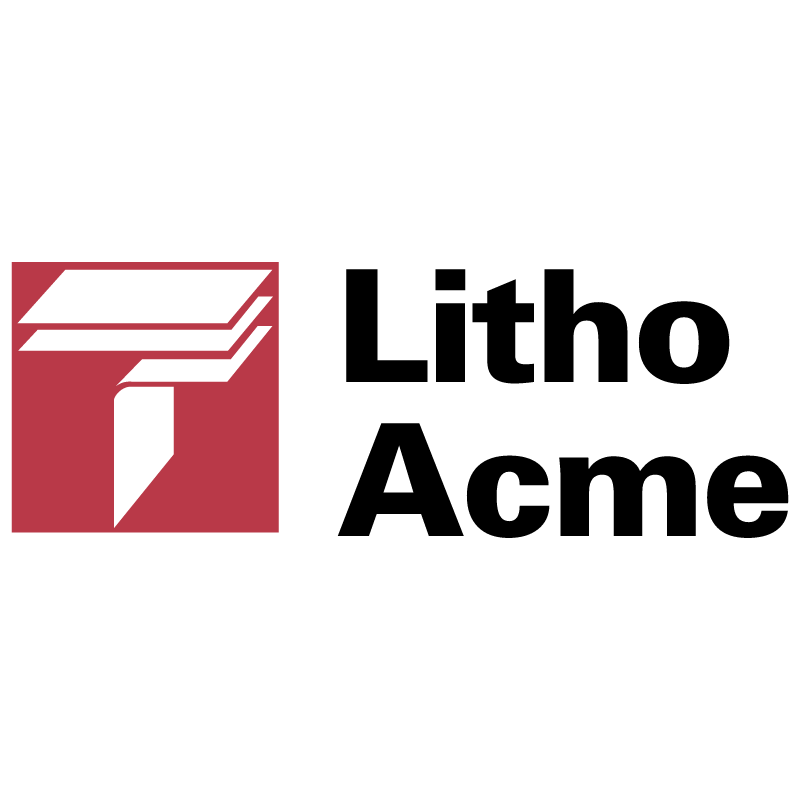 Litho Acme vector logo