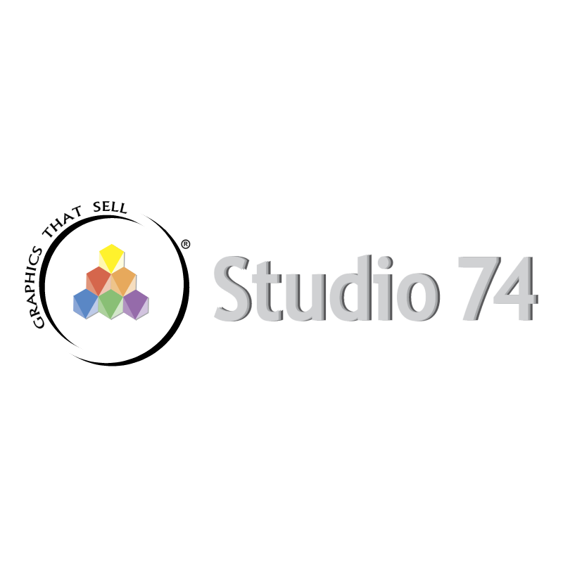 STUDIO 74 Design vector logo