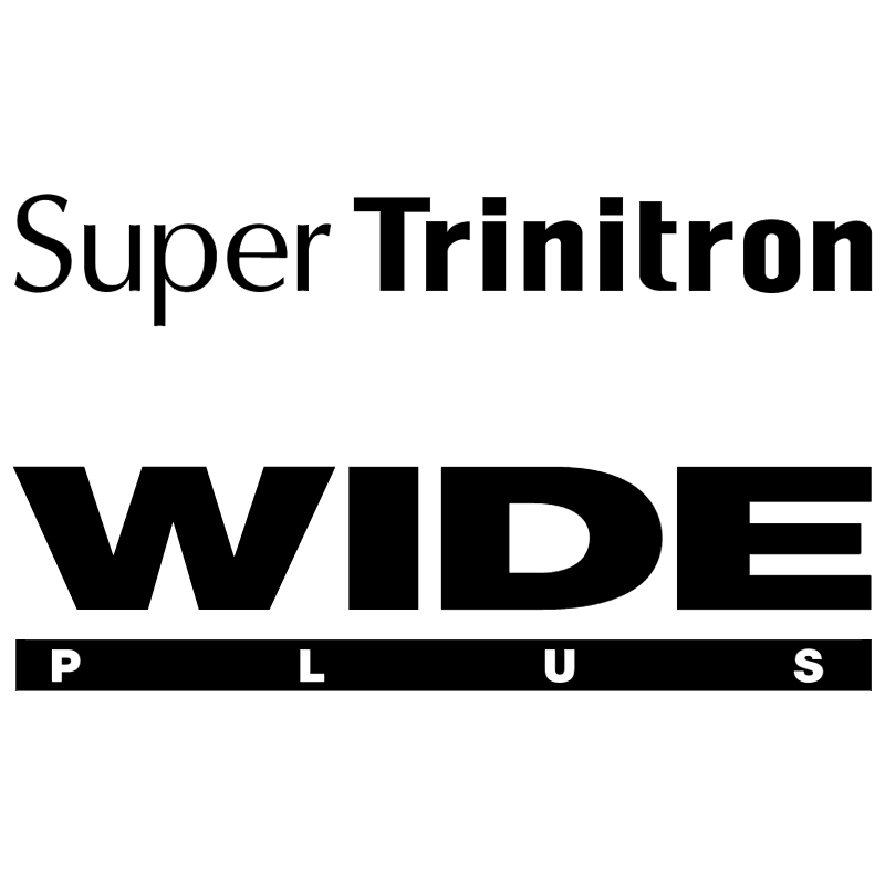 SuperTrinitron Wide Plus vector logo